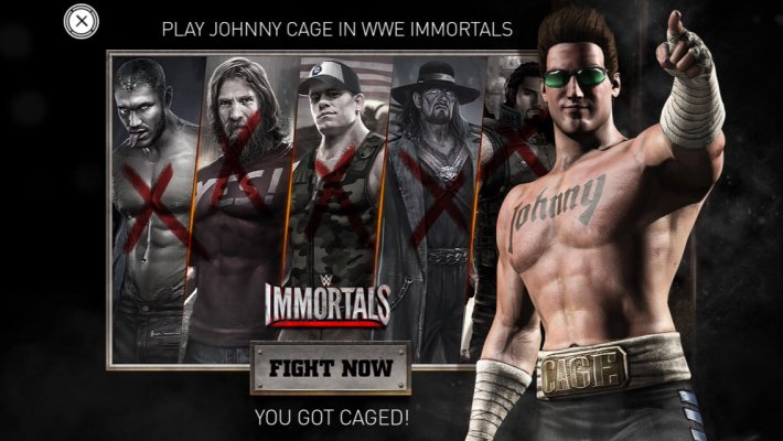 Джонни Кейдж в WWE Immortals