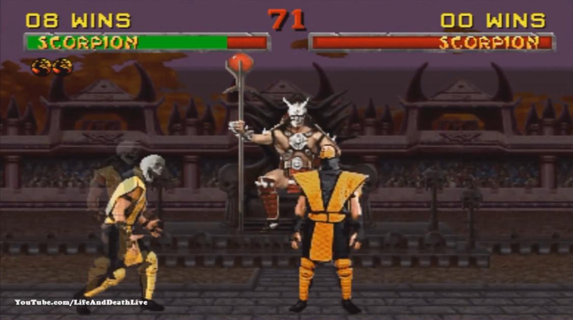 Mortal Kombat 2 Scorpion Фаталити, Бабалити и Френдшип