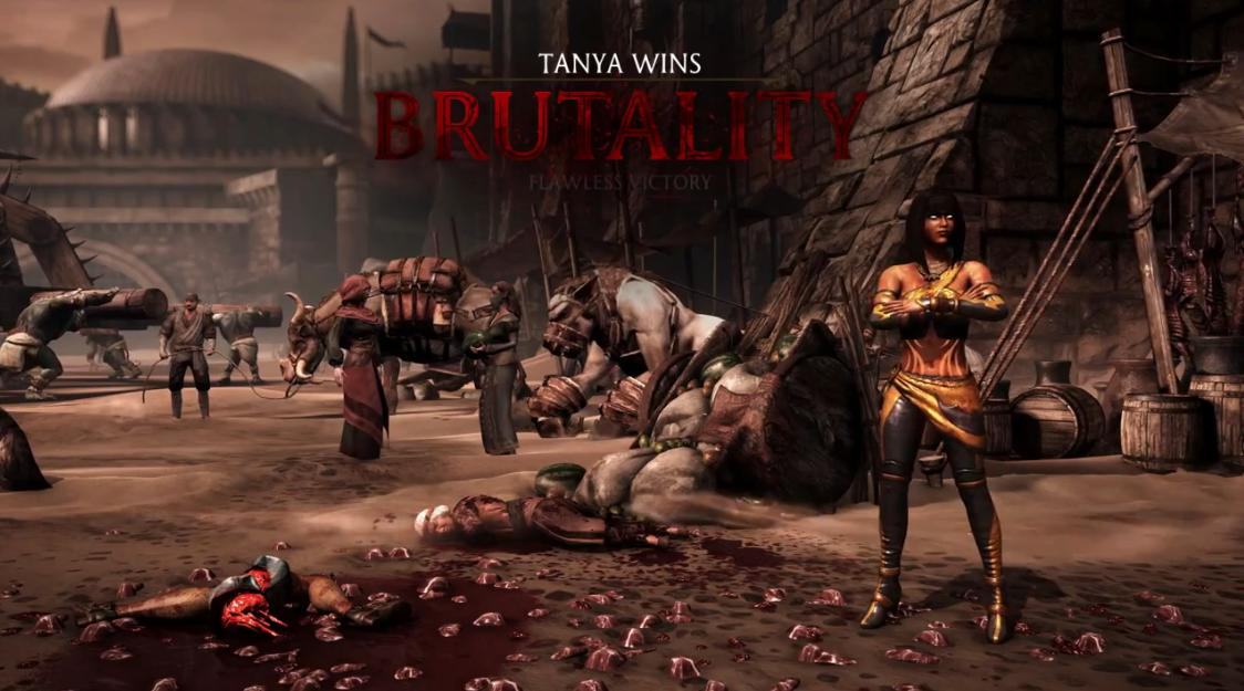 Mortal Kombat X - Stage Brutality на аренах Outworld Marketplace и The Kove