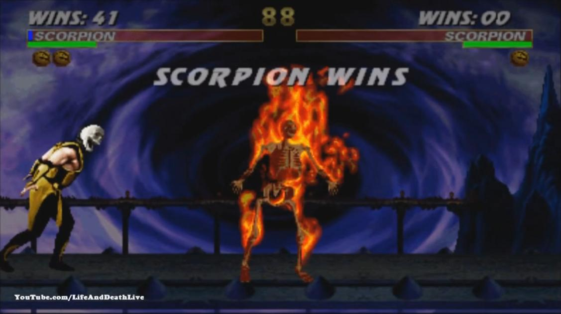 Ultimate Mortal Kombat 3 видео - Скорпион фаталити, анималити, бабалити, френдшип